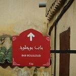 Paneau Bab Boujloud - Fès