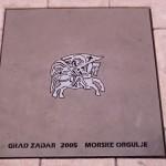 Zadar - Plaque du Morske orgulje
