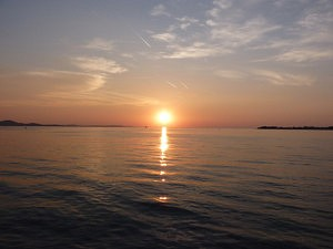 visiter zadar - coucher de soleil - librevoyageur