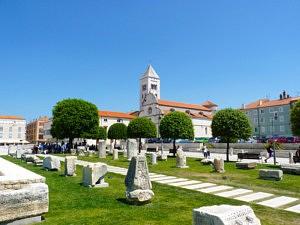 Visiter Zadar - Forum romain - librevoyageur
