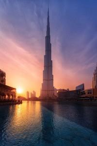 tour de dubai - burj khalifa - sunset - librevoyageur