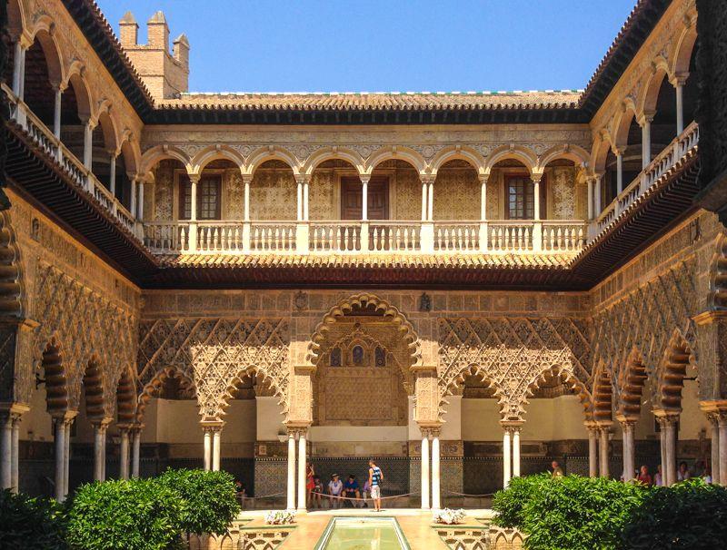 Cour des demoiselles - Alcazar de Séville - librevoyageur