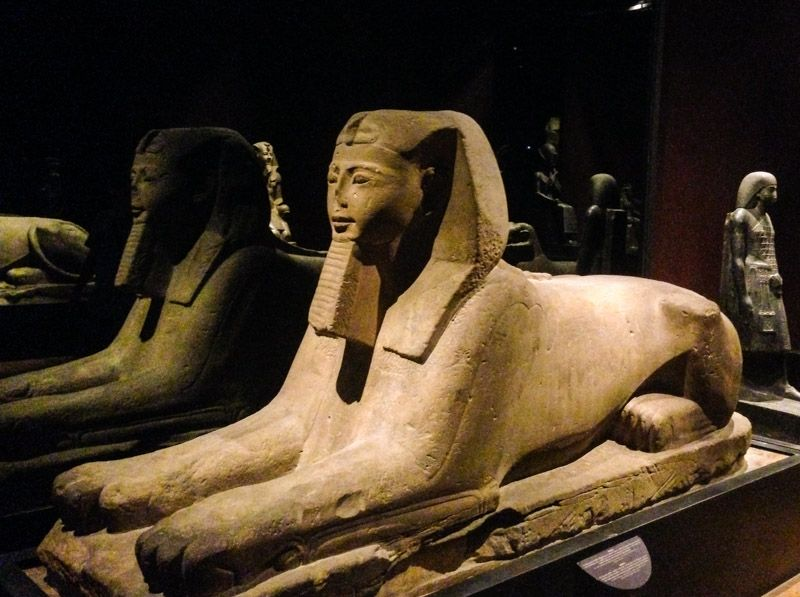 visite musée égyptien de Turin - Sphynx amenhotep III - librevoyageur