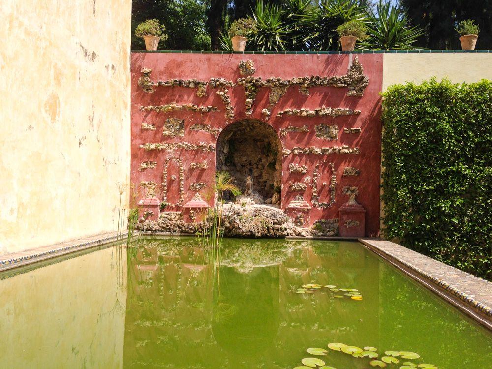 l'alcazar de séville - bassin jardin