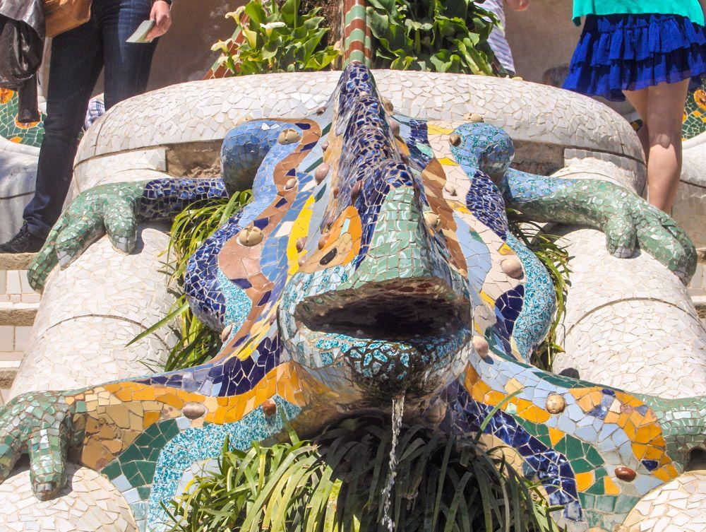 visiter le parc Güell - Salamandre fantastique - librevoyageur