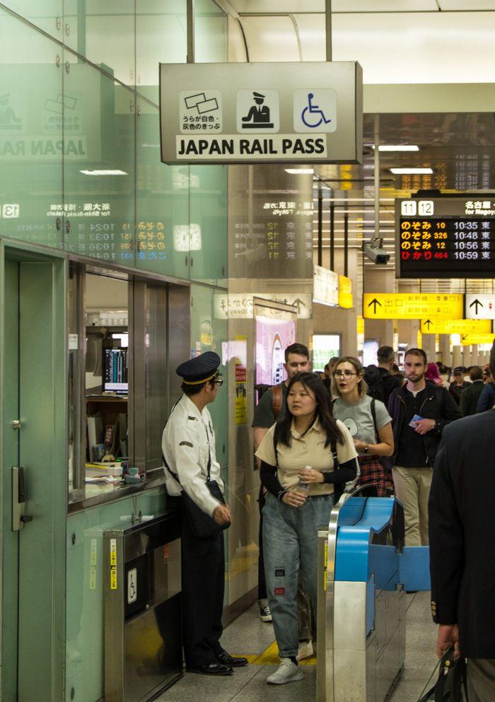jr pass train japon - controle quai