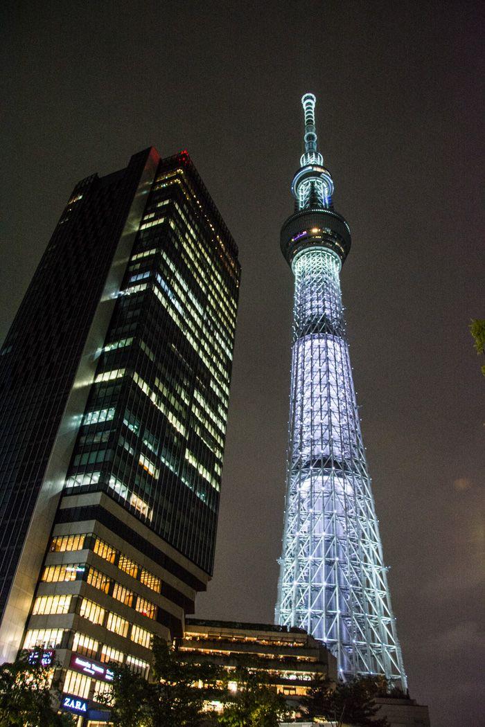 tokyo skytree - nuit - librevoyageur
