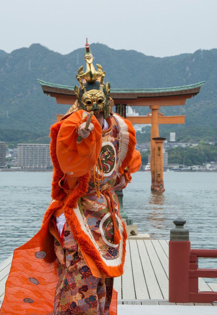miyajima japon - danseur Bugaku