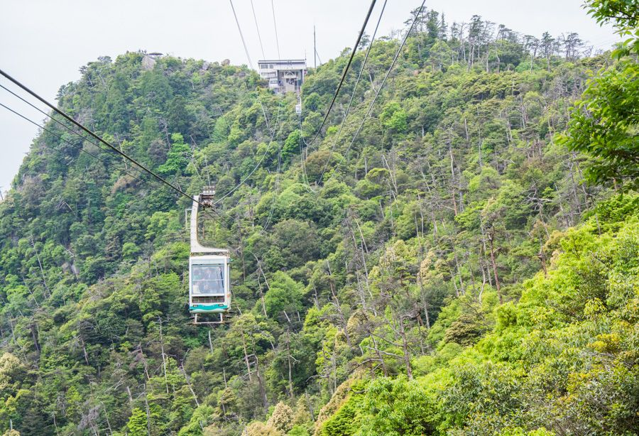 miyajima japon - téléphérique ropeway