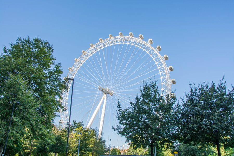 billet London Eye - vue Jubilee Gardens