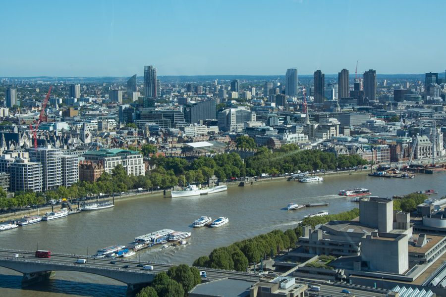 visite london eye - vue sur londres