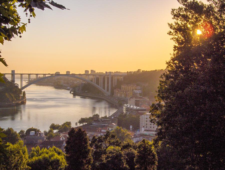 porto - coucher de soleil sur le Douro