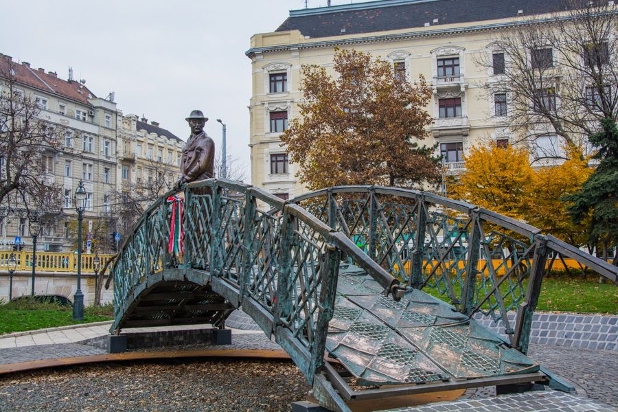 que voir a budapest - statue bronze