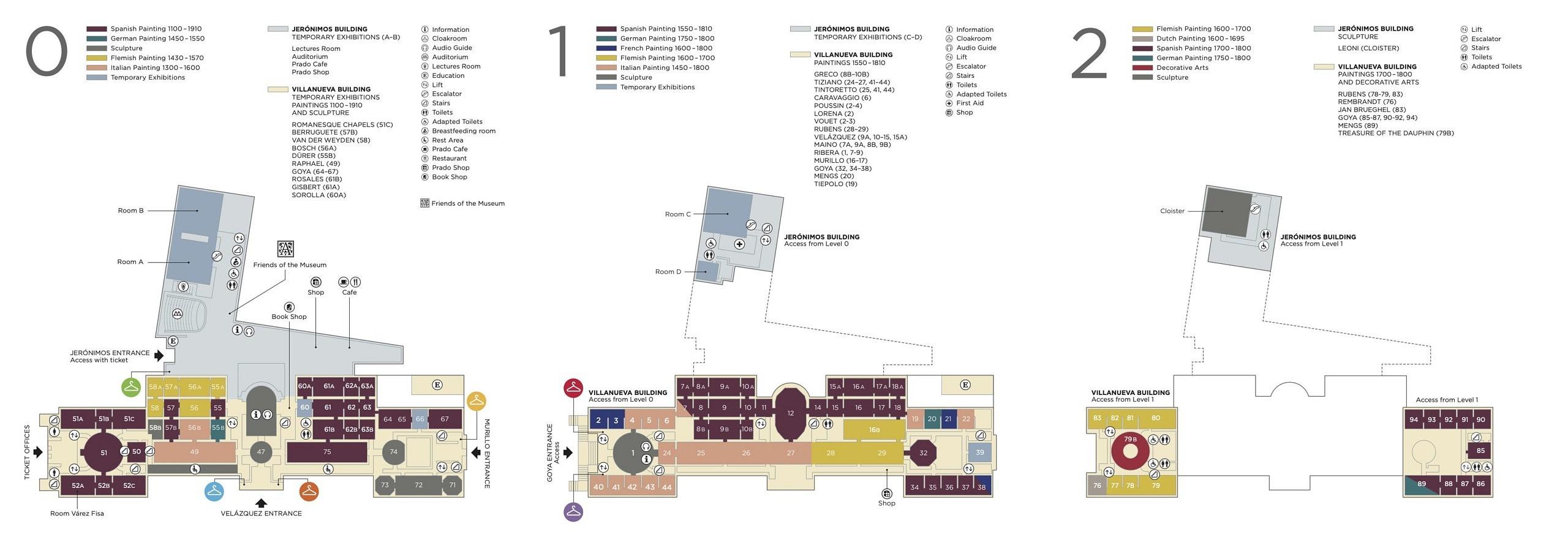 plan musée du prado