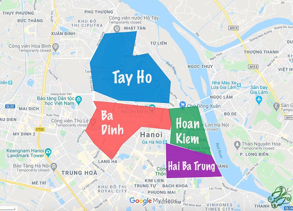 plan quartiers - hanoi
