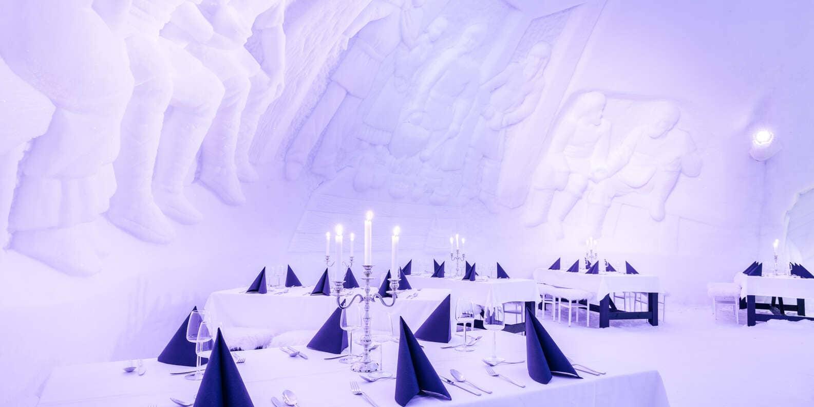restaurant de glace - laponie