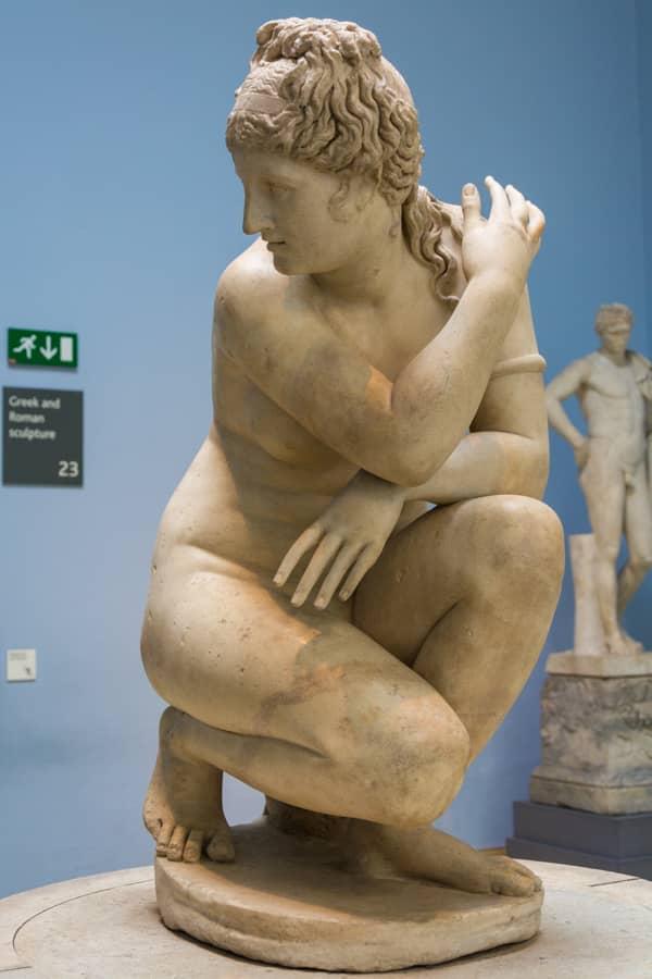 que voir au british museum - aphrodite accroupie