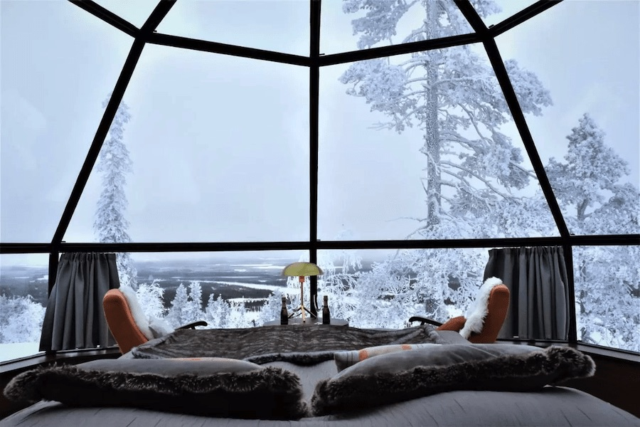 chambre igloo laponie levi